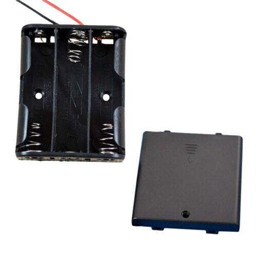 3 Species Plastic Case Holder Storage Box AA Battery