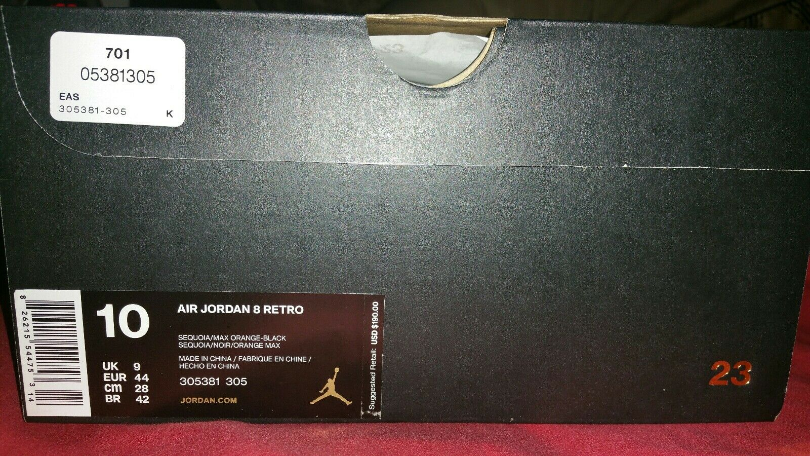Nike air jordan retrò sz 10 8 8 8 f10c78