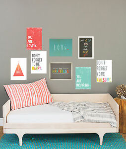 The-Rules-Mini-Collection-Kid-039-s-Room-Decor-Modern-Nursery-Art-Wall-Art-Prints