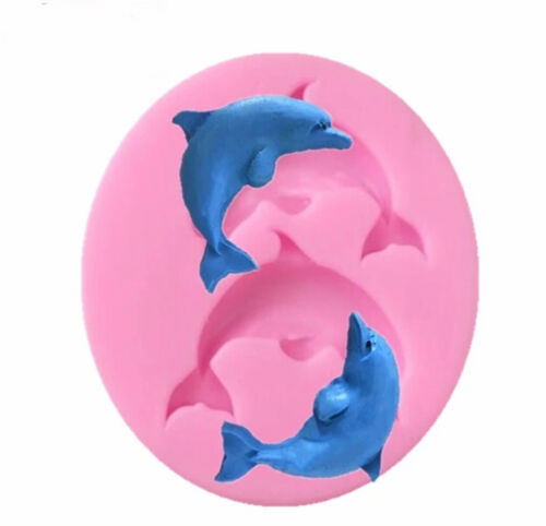 Pack of 2 Baby Stroller and Dolphin Fondant Cake Silicone Mold Chocolate Soap