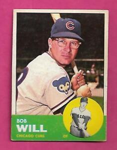 1963-TOPPS-58-CUBS-BOB-WILL-EX-MT-CARD-INV-A8553