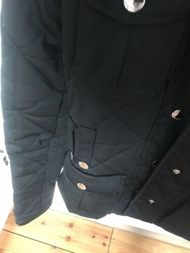 Zara Taglia Quilted Ladies S Black Coat rWTr4Hx