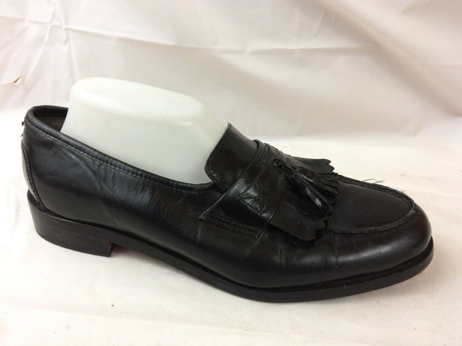 Nunn Bush Manning Loafers Mens 9.5 M Dress Flex Tassel Black Leather 83554 shoes