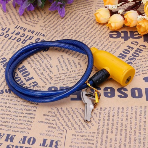 8x630mm Cable Anti-Theft Bicycle Scooter Safety Lock With 2 Keys Cycling Trend