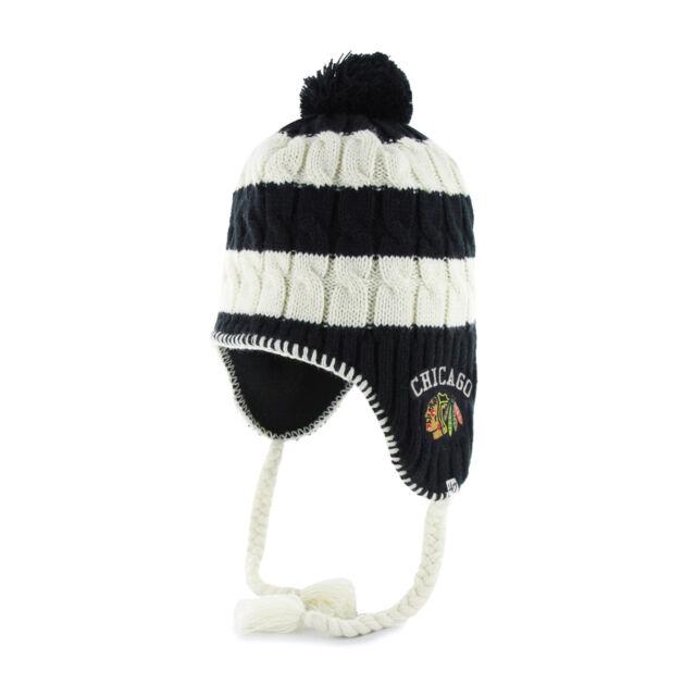 Women s NHL Chicago Blackhawks Fleece Lined Sherpa Knit Hat with Pom by  47 44cbb22e3