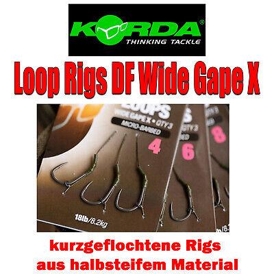 Korda Loop Rigs Size 4 DF Wide Gape X 18lb