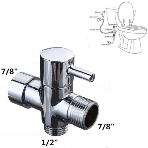 """Mini Toilet Handheld Bidet T-adapter 7//8/"""" Kit Sprayer Diaper Shattaf Chrome"""