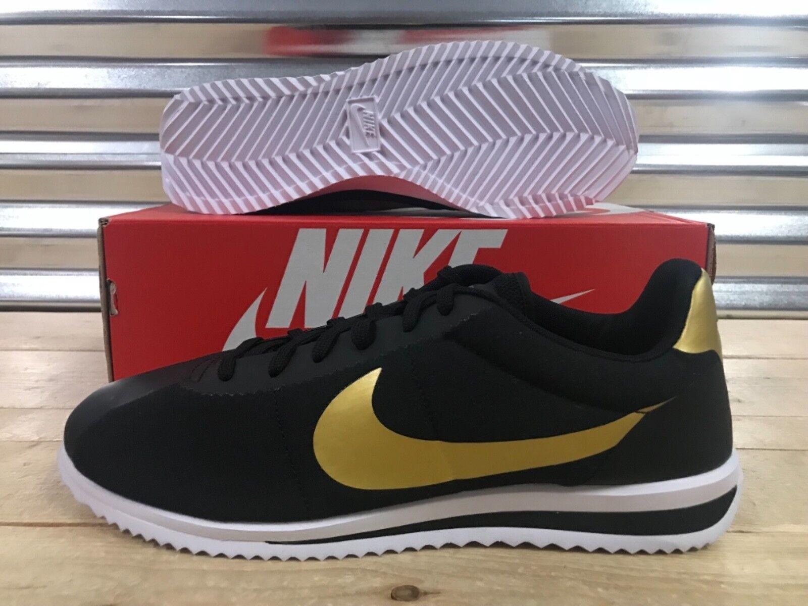 Nike cortez classico ultra qs retrò scarpe nero oro oro nero metallico sz (882493-001) 92ee96