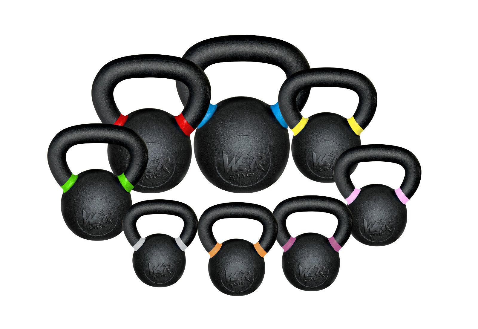 We R Sports Premium Kettlebells 4kg 4kg Kettlebells - 48kg Strength Training Home Gym Fitness 9af372