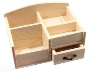Scrivania In Legno Chiaro : Porta penne post it e accessori in legno naturale da scrivania