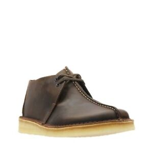 Clarks Mens Beeswax Leather Desert Trek Shoes