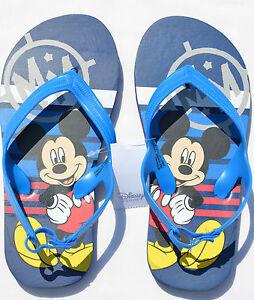 cfb2fc8cf9a6a1 Kids Boys DISNEY MICKEY MOUSE Flip Flops Sandals Thongs Blue Shoes 5 ...