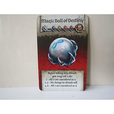 Zombicide Green Horde / Black Plague KS Exclusive Card Magic Ball of Destiny
