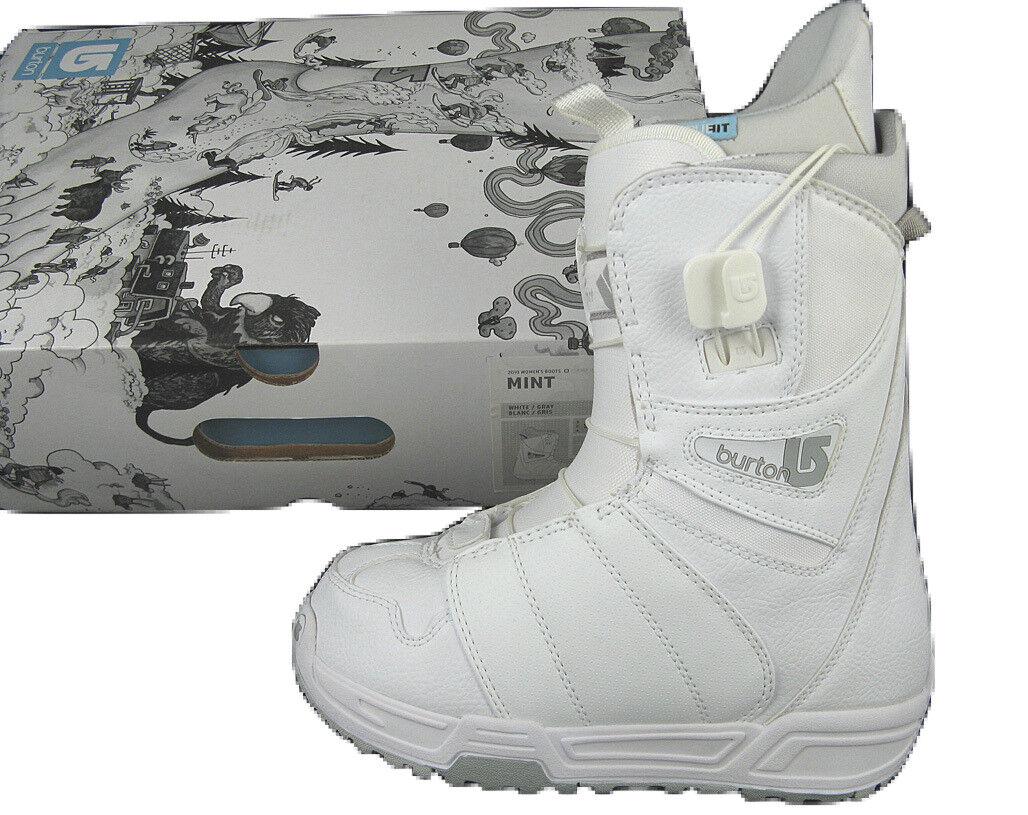 NEW Burton Mint Snowboard Boots   US 4, Mondo 21, Euro 34  White