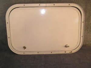 RV Bus Cargo Trailer Access Compartment Storage Hatch Bay Door 23.5 x 15.5 in