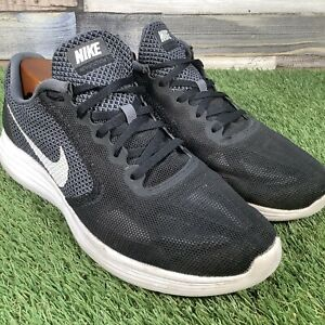 UK9-Nike-Running-Trainers-Lightweight-Fitness-Gym-Shoes-Black-White-EU44