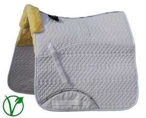 Rhinegold Luxe Horse Dressage Saddlecloth in White/Natural