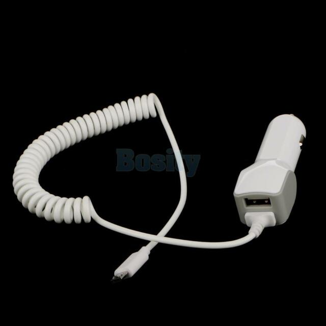 Universal Car Charger Fast 3.4 Amp Micro-USB With USB Port Adapter White