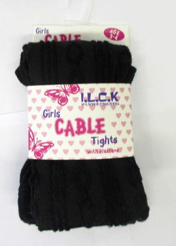 Ragazze i.l.c.k Cable Knit Collant Cotone Ricco con Elastan 46b184