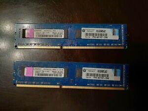 2x2GB 2Rx8 PC3-10600U DDR3-1333 RAM Kingston 4GB