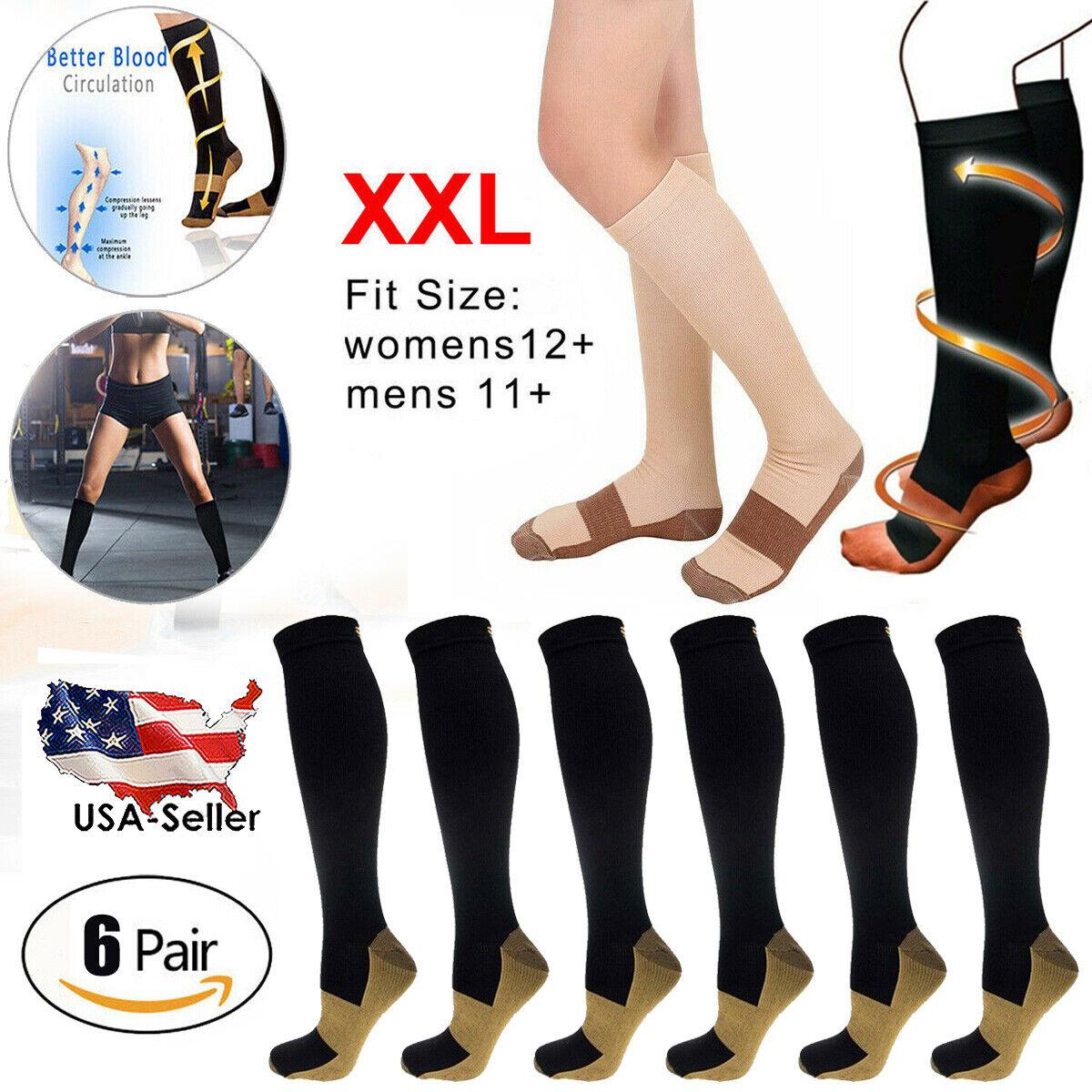"Dissent Supercrew Nano 8/"" + Copper Compression socks Black XL Men 12+"