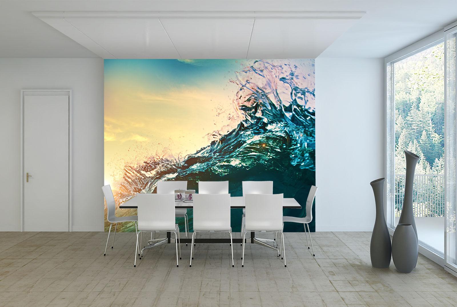 3D Blaue Meereswellen 6 Tapete Tapeten Mauer Foto Familie Tapete Wandgemälde DE