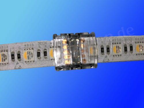 Streifen auf Streifen für RGBW Stripe 12mm IP65 2x LED Stripe 5 Pin Verbinder