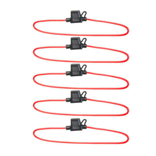 5 Pcs In-line Waterproof Blade Fuse Holder Splash Proof for 12V 30A Fuses Car