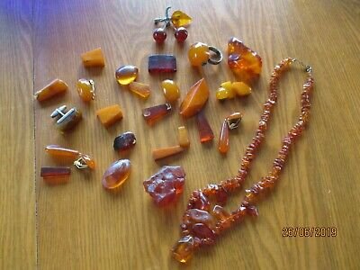 HEALING Old Vintage Russian USSR Natural Real Genuine Baltic Amber Necklace from Kaliningrad Long Dark Brown Tea Color 68 cm 26.77 inches