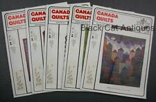 Lot of Five Canada Quilts Magazines 1989 Issues 77 To 81 Vol. XVIII No 1 2 3 4 5