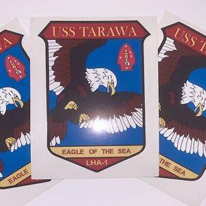 THREE (3) US Navy USS Tarawa LHA-1 Vector Stickers