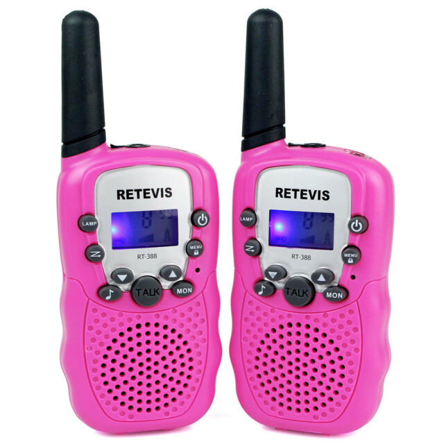 2pcs toy Walkie-Talkie Retevis Pink RT-388 Anti-Throwing UHF 0.5W 22CH for Kids