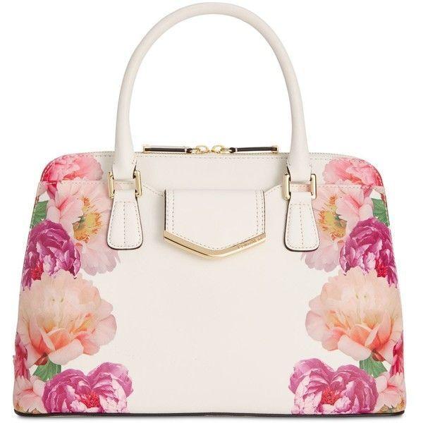 Calvin klein my corner saffiano satchel white flower print ebay mightylinksfo