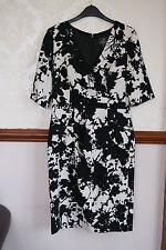 Adrianna Papell Black White Smart Dress Work Office Cocktail  BNWT 10 12  £140