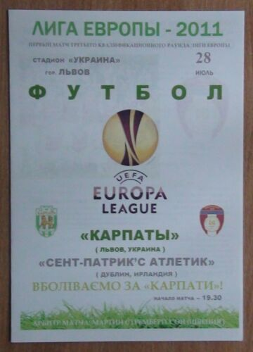 Karpaty Lviv St Patrick's Athletic F.C 2011 pirate