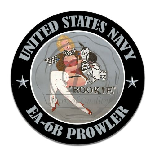 United States Navy EA-6B Prowler Rookie Nose Art Aluminum Sign