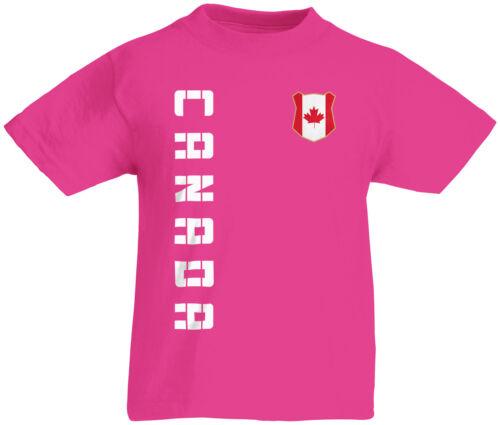 Name /& Nummer S M L XL XXL Fussball Te Kinder T-Shirt Trikot Kanada Canada inkl