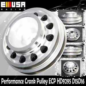 SILVER Crank Pulley for D SERIES SOHC 92-95 Civic 93-95 Civic Del ...