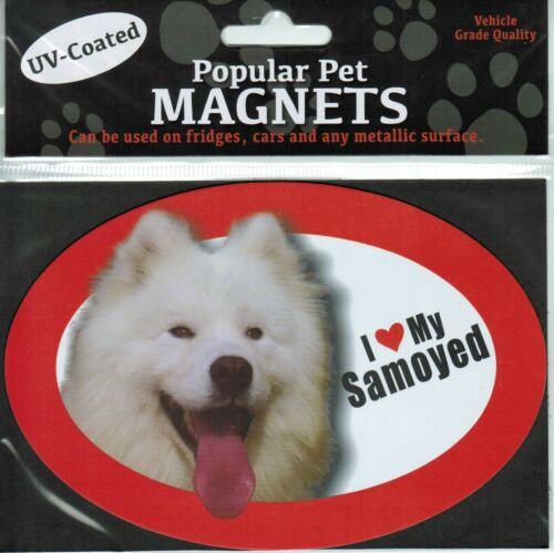 Heart My Samoyed 15cm x 10.5cm I Love Dog Magnet