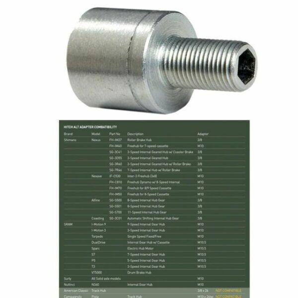 Burley Hitch Alt Adaptateur M10.5 x 1.0