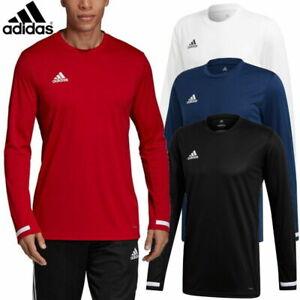 Adidas Team Wear Mens T19 Long Sleeve Sports Jersey Top T-Shirt ...