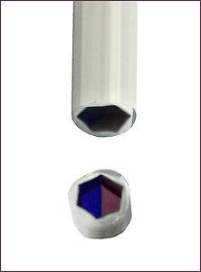 Murrinistange-5-6mm-Klar-Weiss-Blau-Amethyst-32cm-Lang