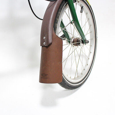 """Genuine Leather Mudguard for Brompton Bicycle Black /"""" Recommend /"""""""