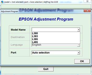 ⭐ Epson l380 resetter and adjustment program download free
