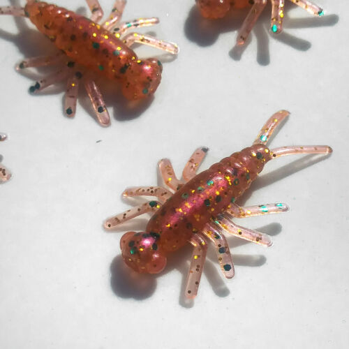 NEW 50//pack PEACHY CONFETTI Buggeroo Fishing Soft Plastic Bait Bug Cricket