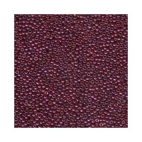 Miyuki Seed Beads 11/0 Cranberry Gold Luster 11-313 Glass 23g Round Size 11