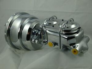 LJ-Torana-Chrome-Brake-Booster-amp-Master-Cylinder-Kit-New