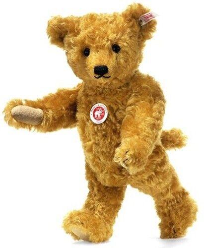 Steiff EAN 38242 Classic Teddy Bear oroen Biondo con meccanica Head-Mohair