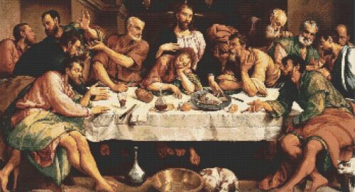 THE LAST SUPPER COUNTED CROSS STITCH CHART