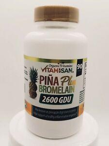 Bromelain 2400 gdu 1000 mg 60 Caps Antioxidant Immune System Support